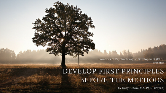 Develop Principles before the methods