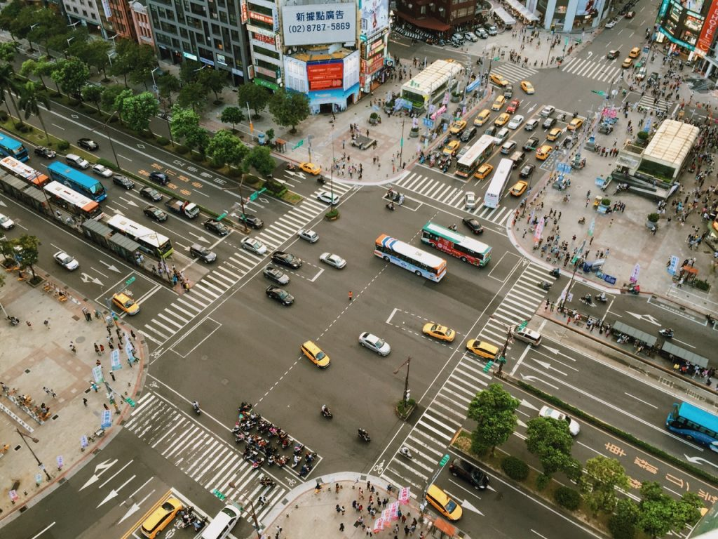 traffic ariel view